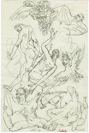 Magical Art: Sabbath (1954), Austin Osman Spare (sketchbook)