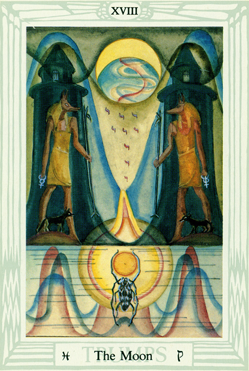 Magick of Pisces: Thoth Tarot trump The Moon XVIII