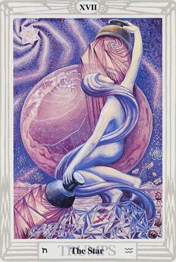 Thoth Tarot The Star XVII Aquarius