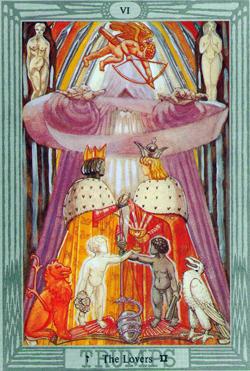 Gemini: The Lovers VI Crowley-Harris Thoth Tarot