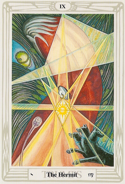 The Hermit IX Thoth Tarot Atu