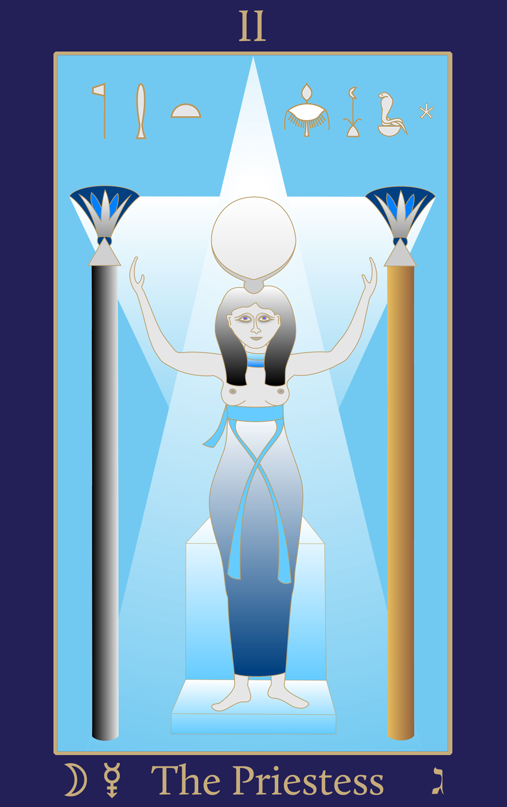 Egyptian Tarot of Thelema The Priestess II