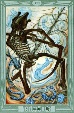 Scorpio: Crowley-Harris Thoth Tarot Atu Death XIII