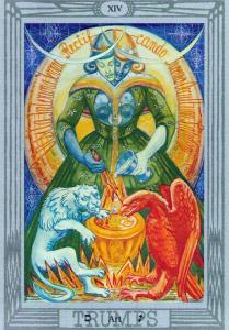 Art of Sagittarius: Thoth Tarot Atu Art XIV