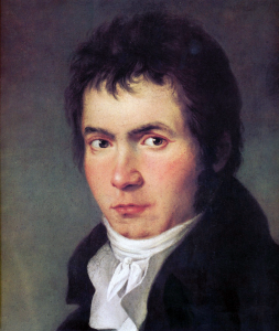 Beethoven, Philosophy and the Stars: portrait of the young man (detail)
