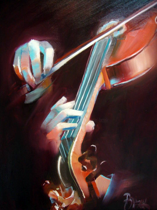 Violin Player by Sonja Brzk